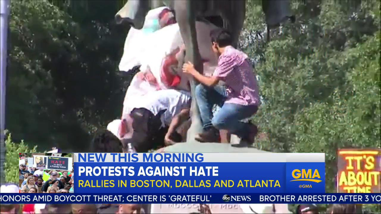 WATCH: Protests against hate; rallies in Boston, Dallas and Atlanta: https://t.co/OxcybAliaL @sramosABC https://t.co/lDpr7zY5DY