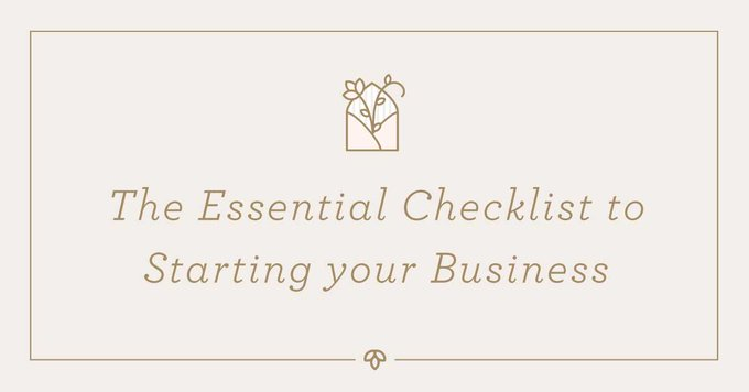 The Essential Checklist to Starting your Business  Business Freebies