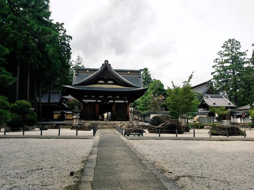 〔20日〕KOFU×戦国BASARAスタンプラリーこちらは恵林寺。信玄公の菩提寺です。お庭がとても綺麗!宝物館にはお刀も
