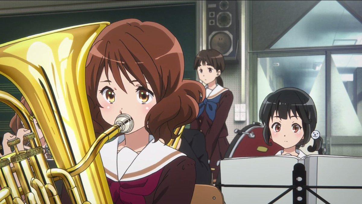 ユーフォニアムという楽器をこのアニメで知りました。黄前久美子さんと 音楽室壁の NS-1000M 。『響け!ユーフォニア