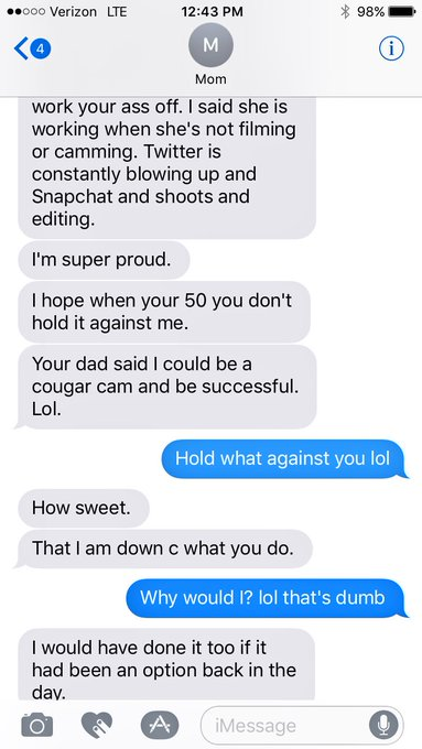 1 pic. just another work convo with the mom 🤣 SORRY DAD https://t.co/KJJ2ZzEGwa