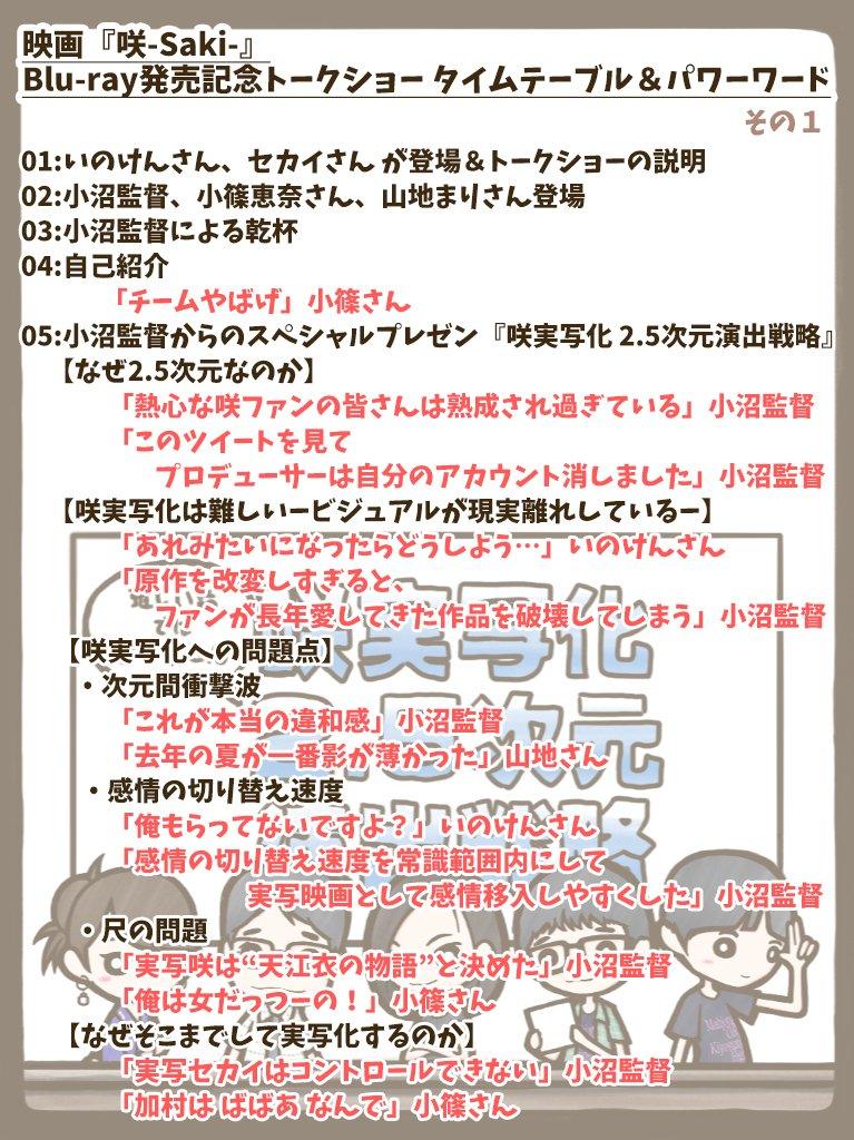 映画『咲-Saki-』Blu-ray発売記念トークショーレポ -01-トークショーがどの様に進んだのかわかるようにおおま