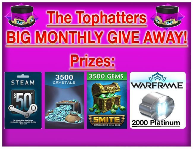 Tophatters Monthly BIG give away!