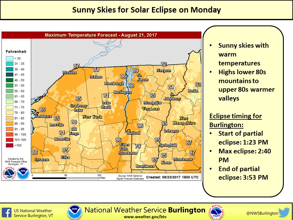 test Twitter Media - Sunny skies with warm temperatures for the solar eclipse on Monday. https://t.co/lTF4Stx0uS