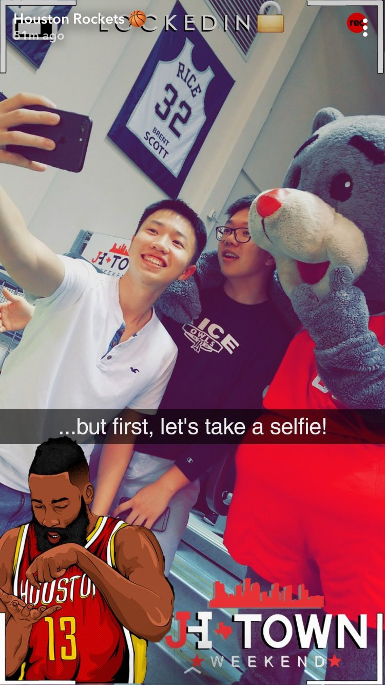 Follow us on Snapchat for a behind-the-scenes look at #JHTW!   �� » HoustonRockets https://t.co/TQJgLlRzuL