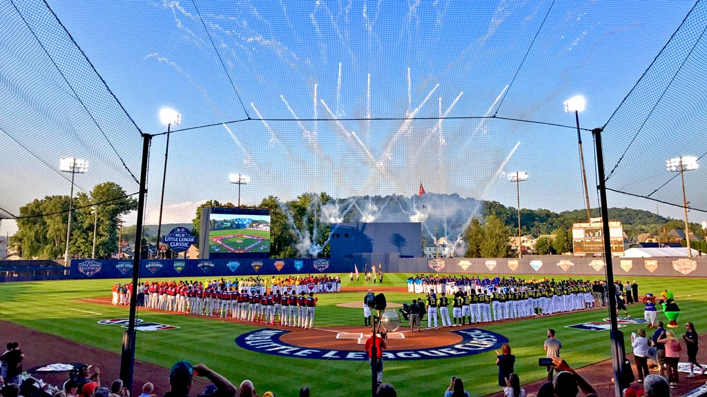 Intros? ✅ Ceremonial first pitch? ✅Anthem? ✅Let's play ball in Williamsport on @espn . #MLBLittleLeagueClassic