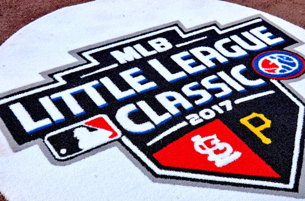 The ultimate reminder that it's a child's game.What a night. #MLBLittleLeagueClassic