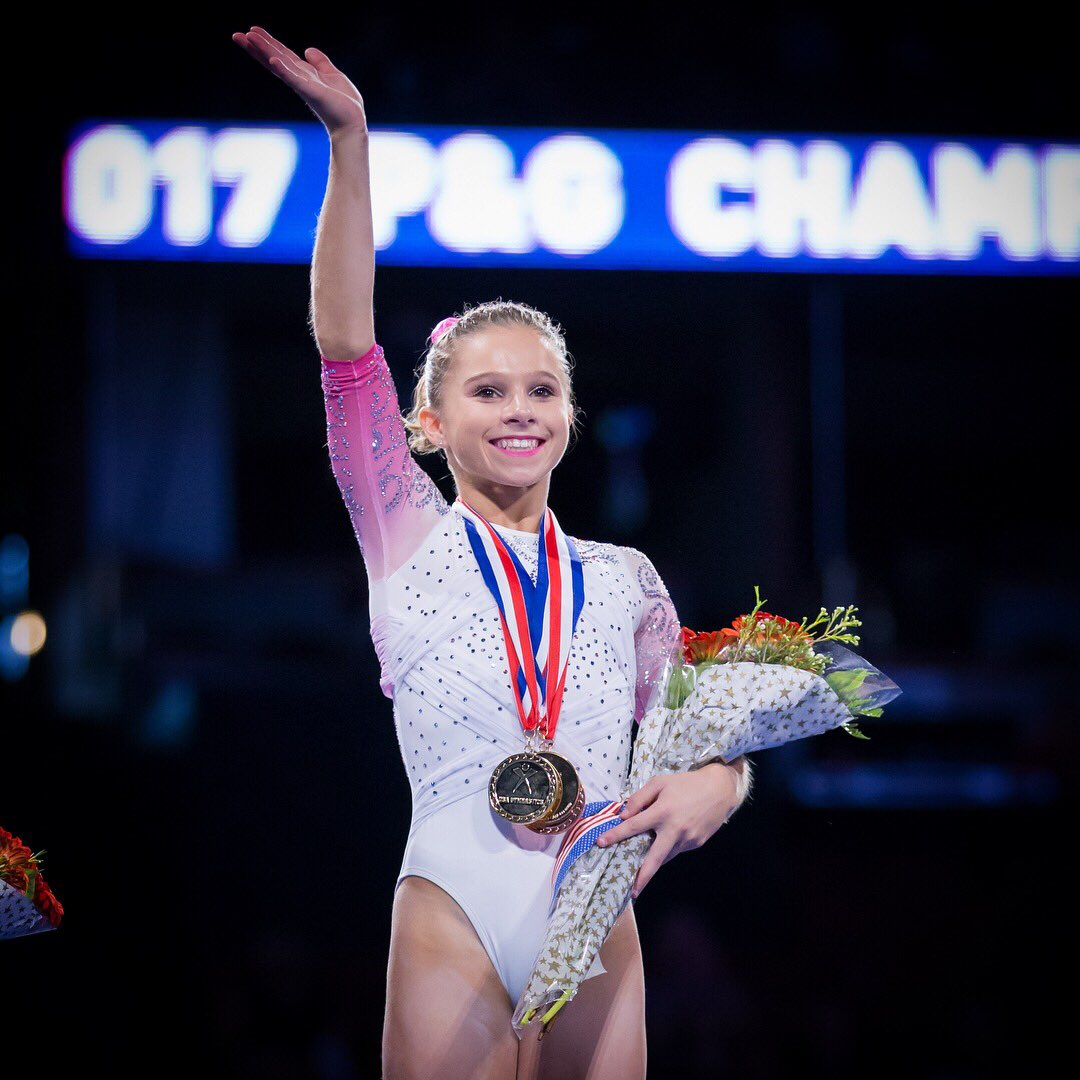 RT @FloGymnastics: Senior #PGChamps AA Podium 🥇 Ragan Smith 🥈 Jordan Chiles 🥉 Riley McCusker https://t.co/aktECouvPk
