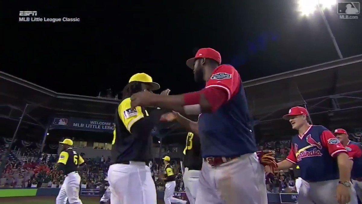 """""""Good game. Good game. Good game …""""It really was. #MLBLittleLeagueClassic"""
