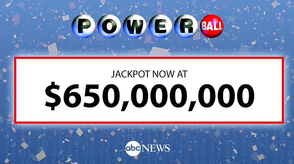 Jackpot jumps to $650 million after no Powerball winner in Saturday's drawing.