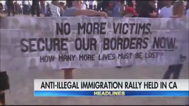 Hundreds rally against illegal immigration in California