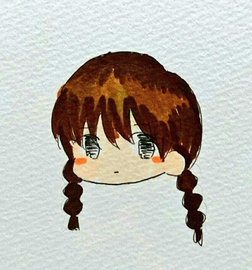 寝れなかったから真宮桜ちゃん描いた( ๑´•ω•)੭_□ ソッ#境界のRINNE #真宮桜