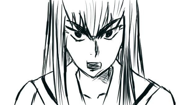 キルラキルより皐月さん模写。ああいう熱いアニメって大好物なんですわ・・・#模写練習