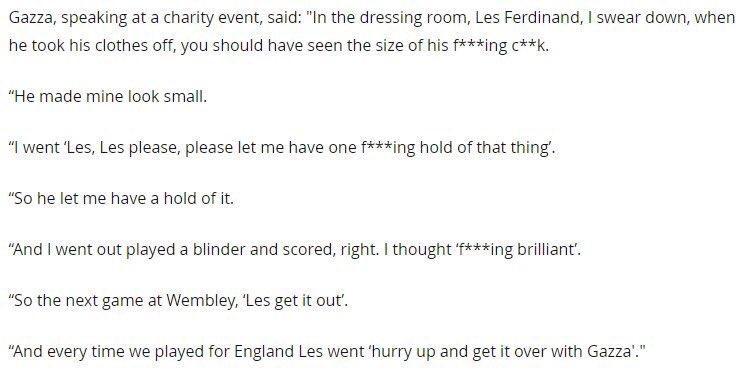 Gazza's pre-match ritual with Les Ferdinand. https://t.co/FFKW5GTeN1