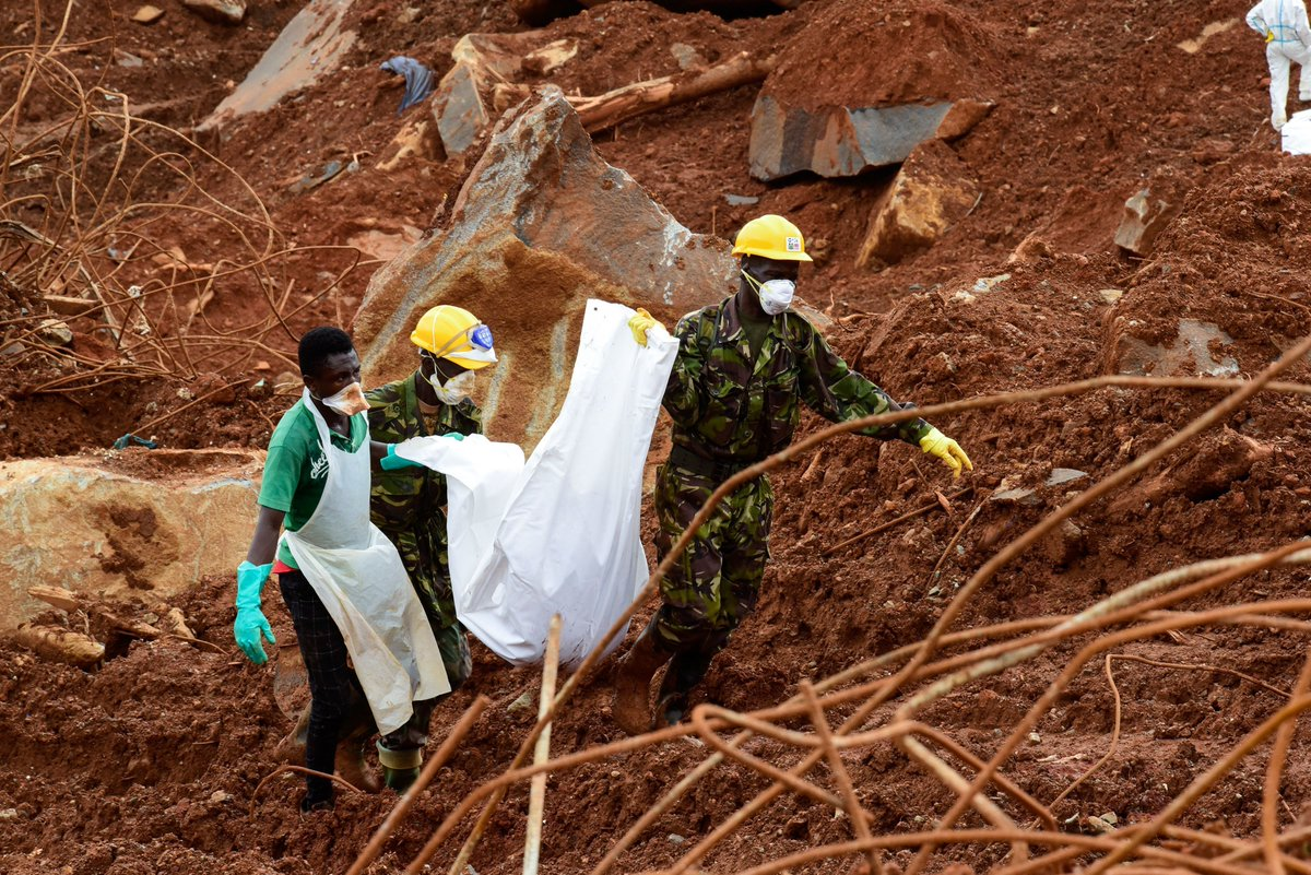 Nearly 500 bodies recovered from devastating Sierra Leone mudslide