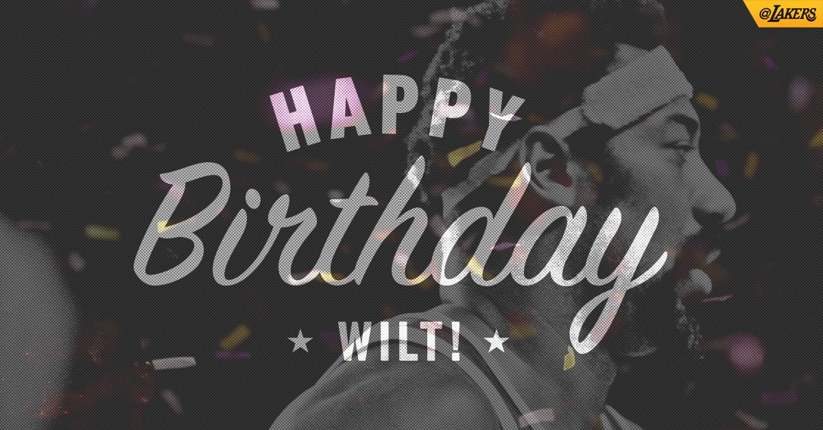 Today, we honor The Big Dipper. Happy Birthday, Wilt! https://t.co/8VMsCc4K3I