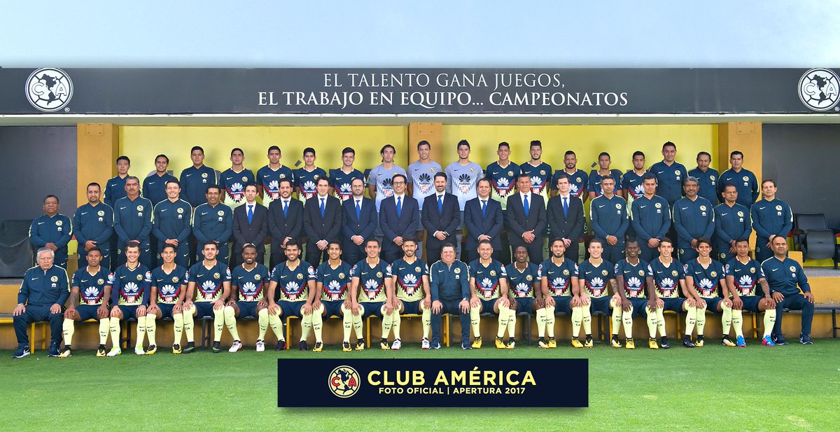 RT @ClubAmerica: 📸 Foto Oficial   Primer Equipo | Apertura 2017  #SiempreÁguilas 🦅 https://t.co/7lgMGWdx9G