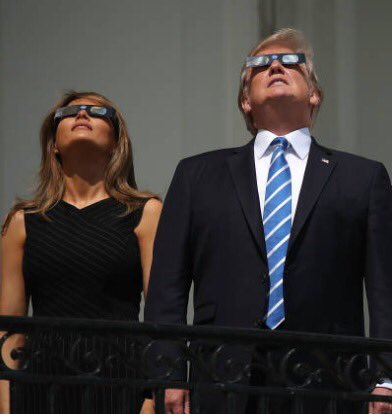 Exciting to watch the total eclipse with @potus today! #Eclipse2017 😎 https://t.co/85Y8R4yJU7