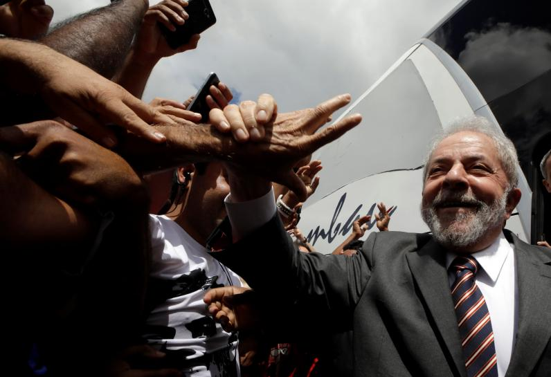 Brazil's Lula on the road, eyes comeback despite graft conviction