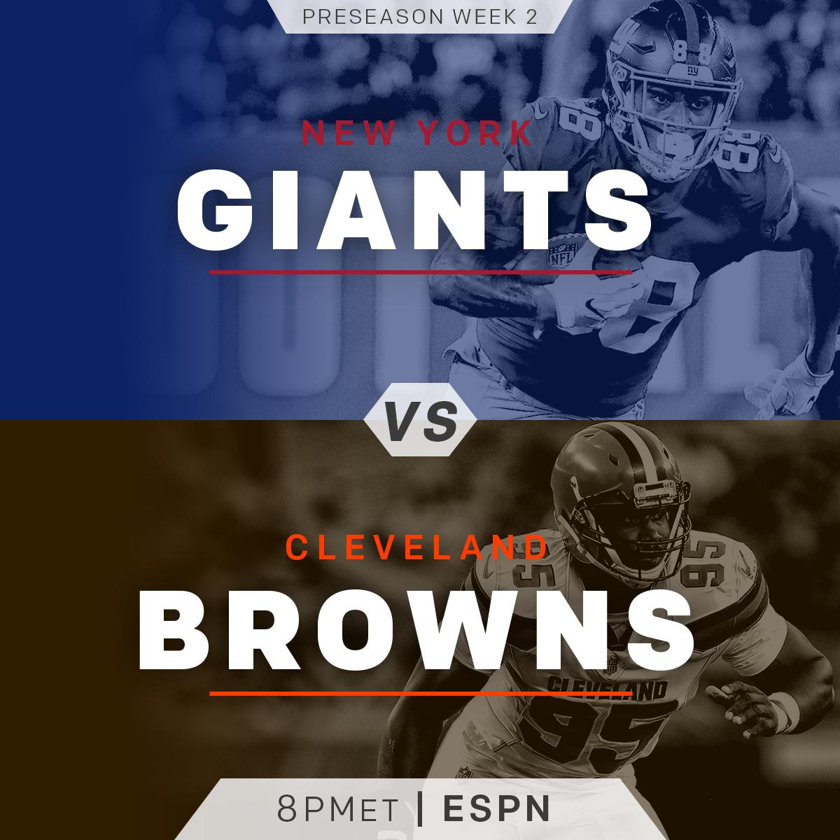 �� Monday Night Football! ��  @Giants vs. @Browns TONIGHT! (8pm ET on @ESPNNFL) #NYGvsCLE https://t.co/fCtOAHOwic