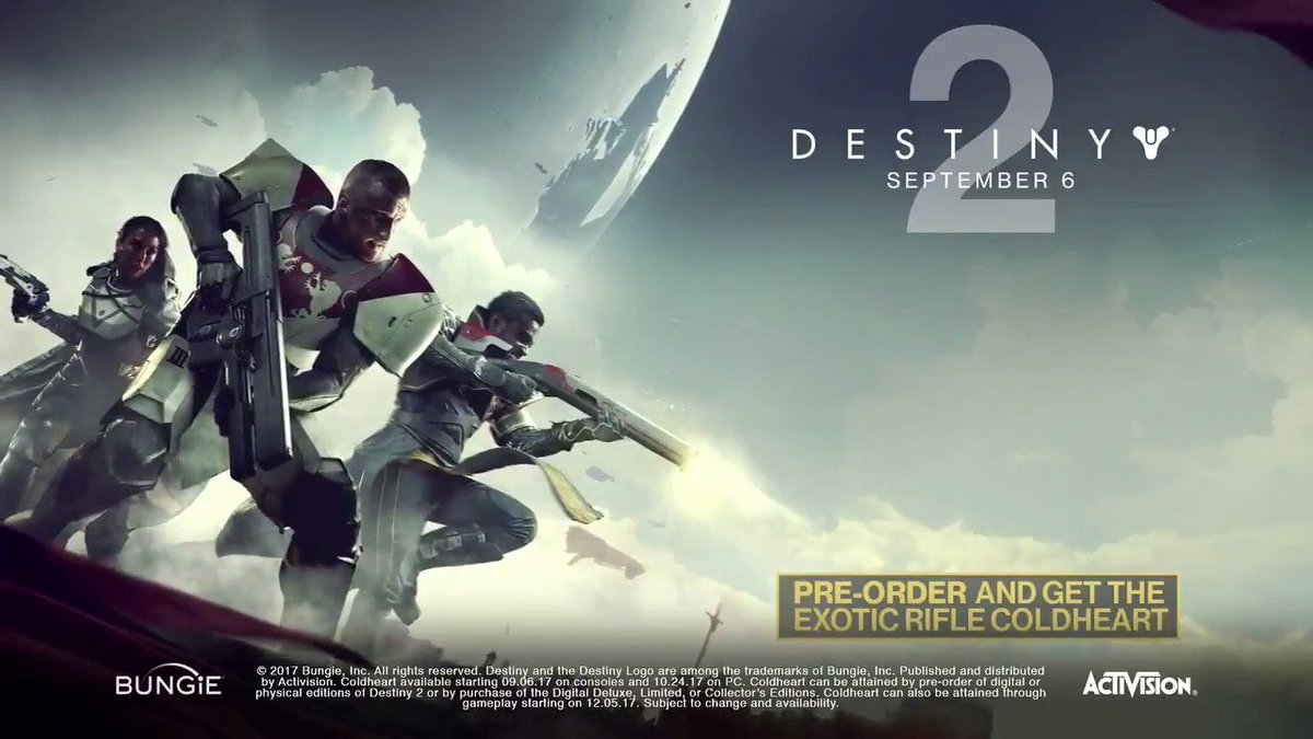 ICYMI #Destiny2 has almost arrived! Here's the launch trailer.