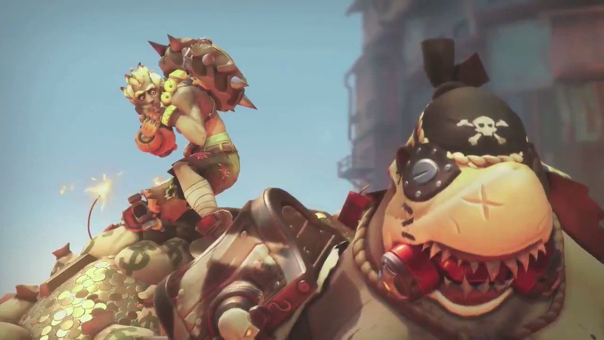 Today is a good day for #Overwatch players!Here's the new animated short for the upcoming map Junkertown.