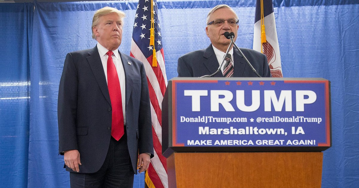 "Trump pardon of Joe Arpaio would be a ""bull horn"" calling all racists, critics say"
