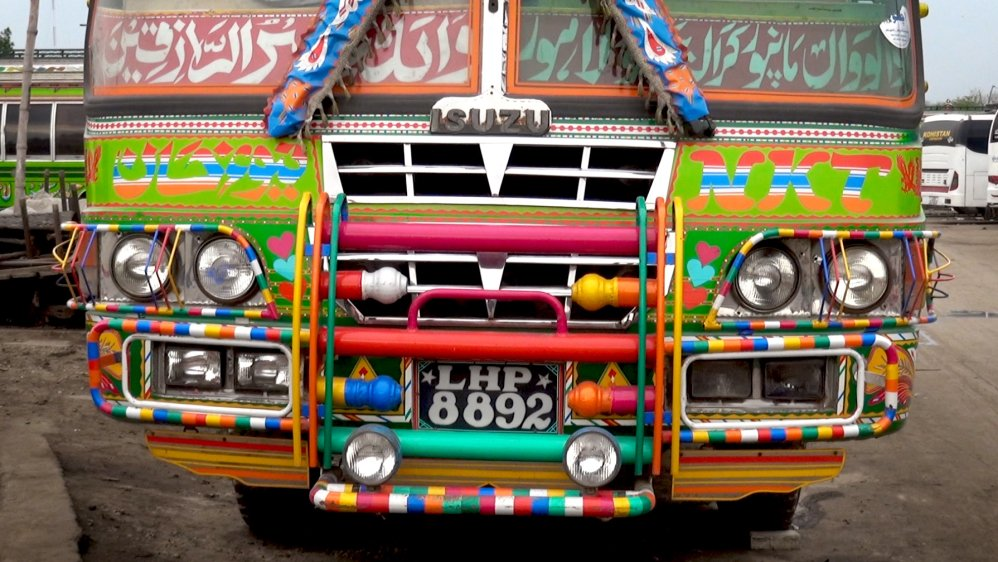 Turning buses into art in Pakistan