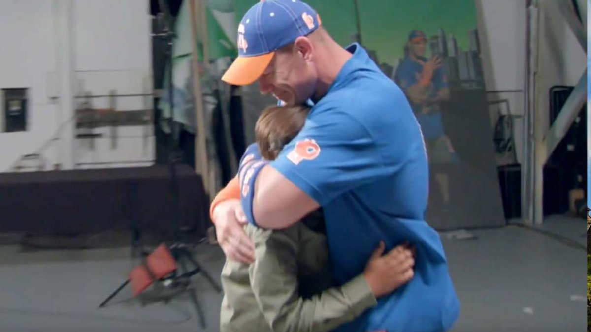 John Cena was brought to tears after being surprised by fans whose live he's changed. 💙💙