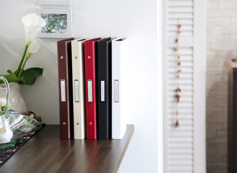 高級感漂うシンプルでおしゃれなファイルは、店舗でのカタログやメニュー表になど使えますよ〜♪#ファイル #モノクローム #