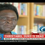Christabel Ouko, widow to Robert Ouko, killed in road crash
