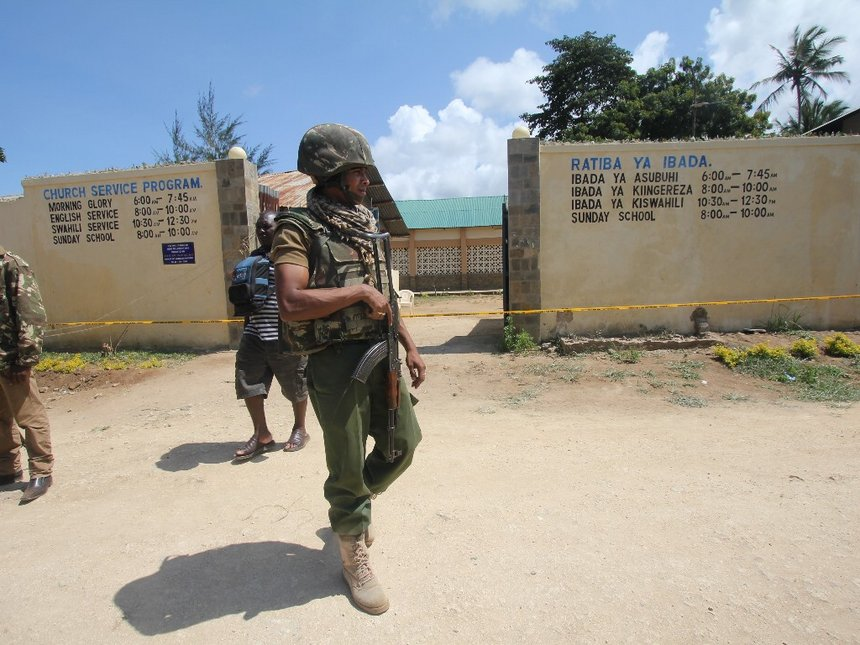 Police link al Shabaab to killing of two officers at Kwale church