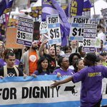 Fast food workers in Boston join 300 cities in national Labor Day strike