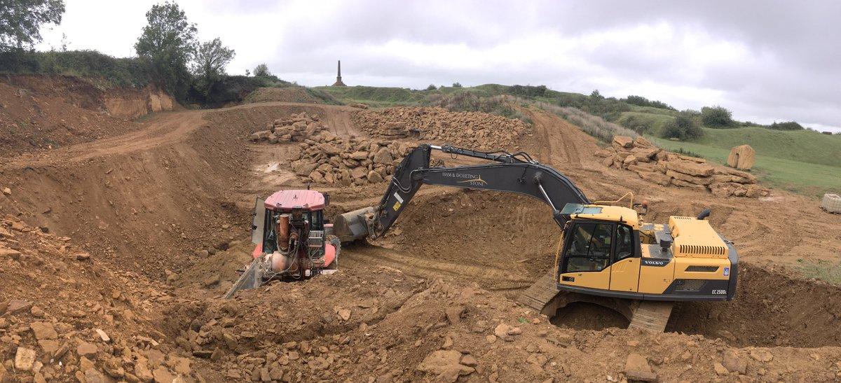 Fantini cutting @Hamhill quarry! https://t.co/6zNpWcAd1D
