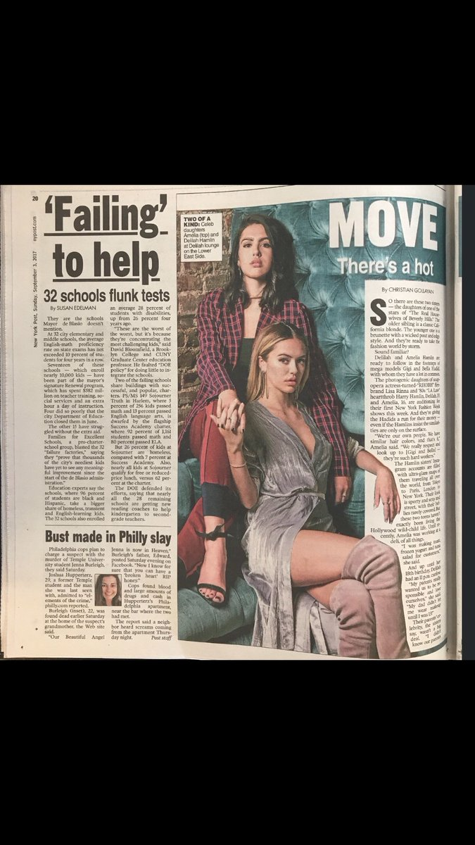 Oh Hi my girls in the @nypost today @AmeliaGHamlin @DelilahBellee #proudmama ❤️❤️❤️ https://t.co/pfCLJVFUyc