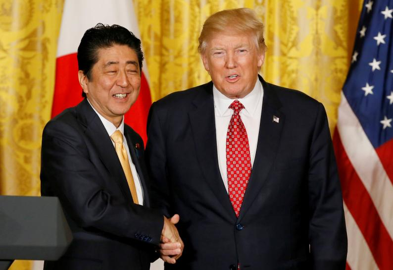 Japan's Abe: agreed with Trump, Putin on cooperation over North Korea