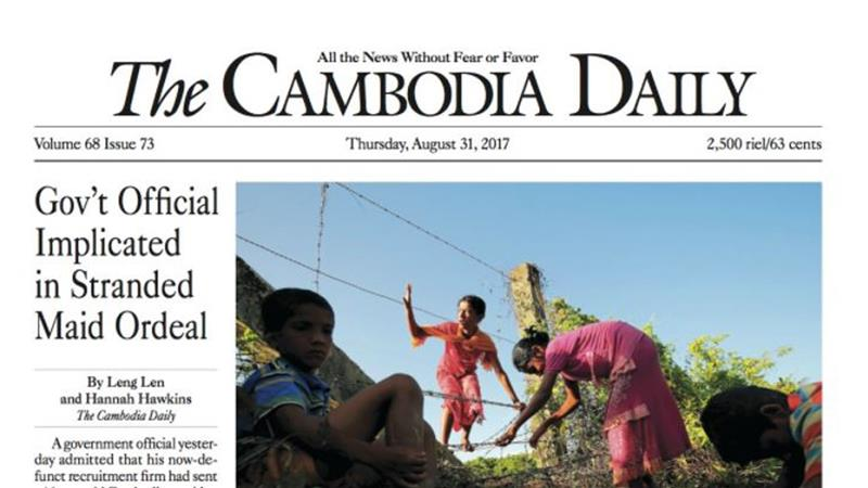 Cambodia Daily to close after tax fight with government