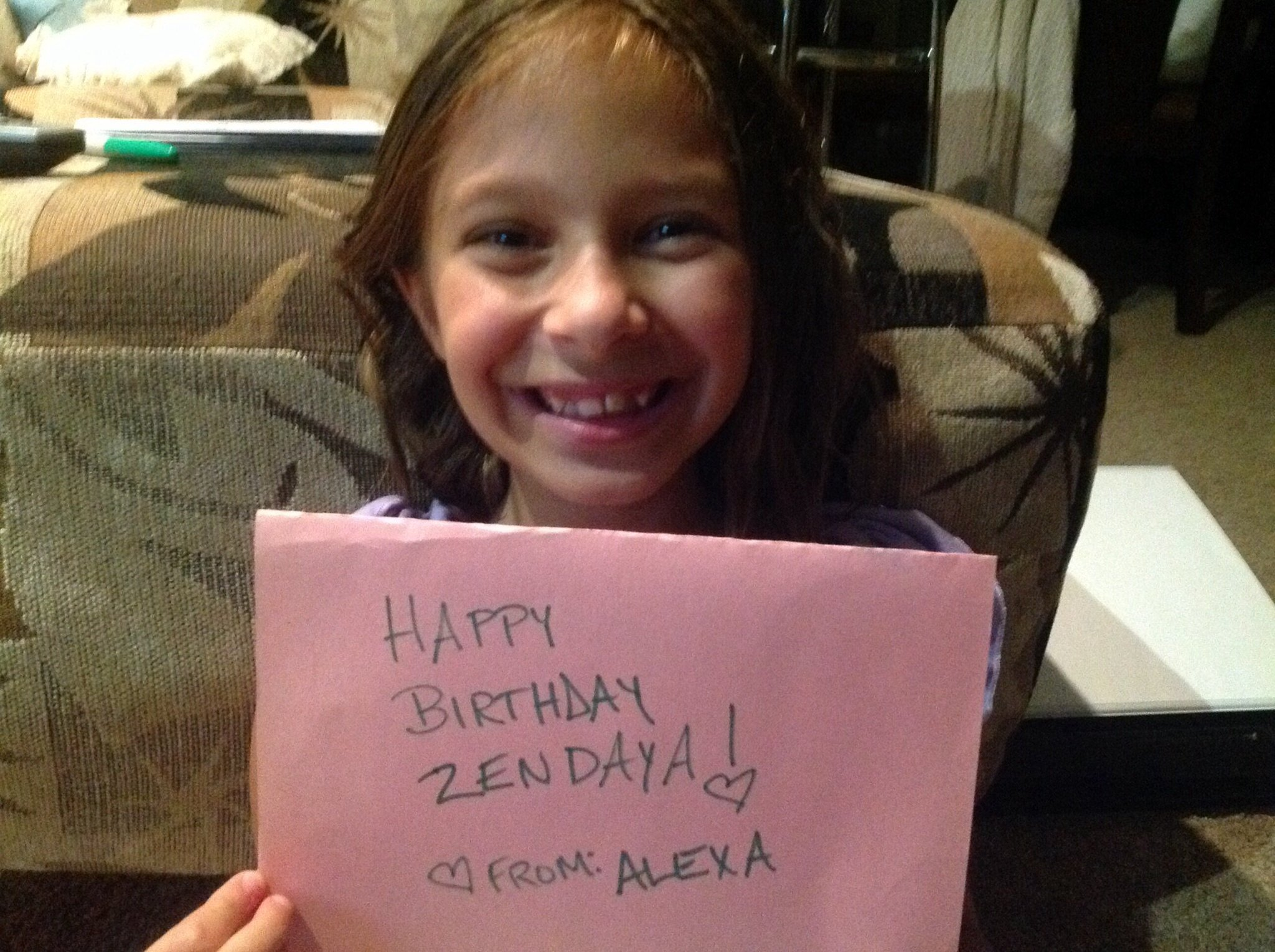 Happy birthday to fabulous you Zendaya! You are an inspiration to me! Love from Alexa. I am 9.