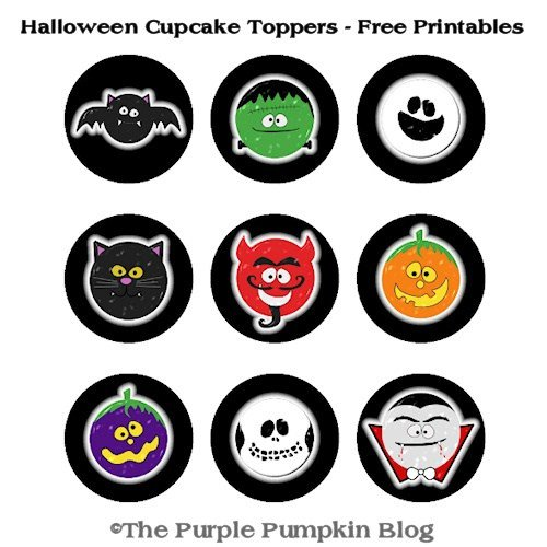 Free Printables! Cute Halloween Cupcake Toppers > Halloween  CraftyOctober Freebies htt
