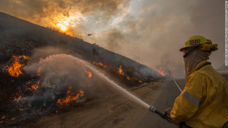 More than 1,000 firefighters battle the largest blaze in Los Angeles history
