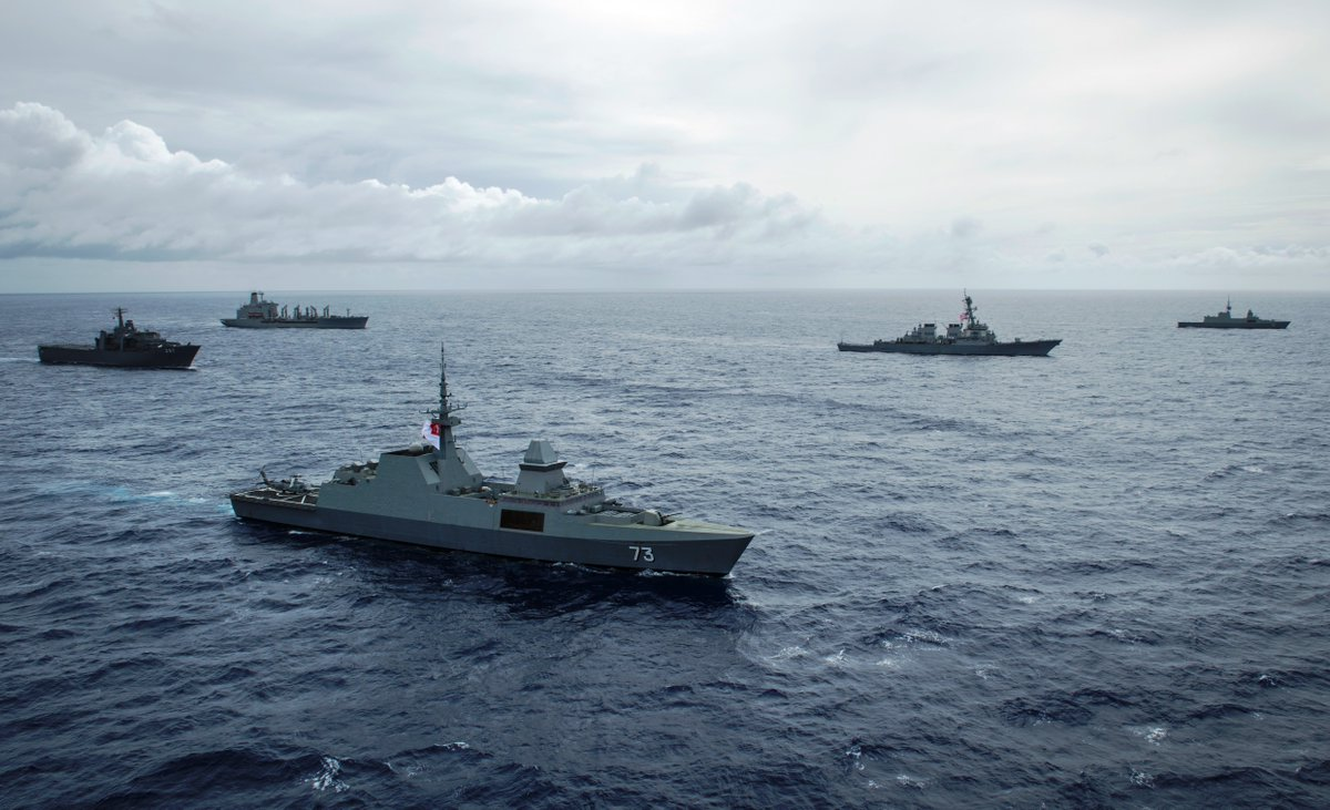 Singapore, US navies hold first bilateral exercise off Guam