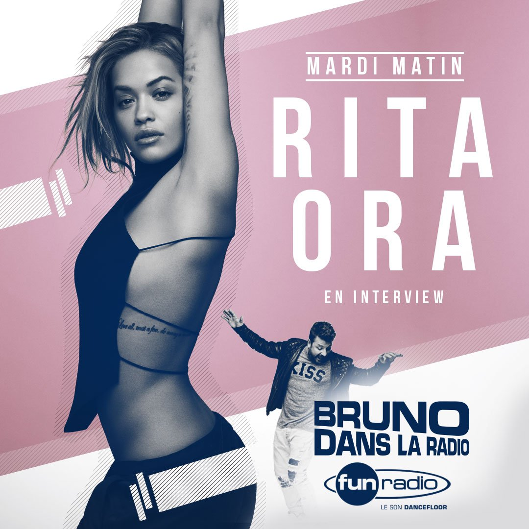 RT @funradio_fr: Demain ne manquez pas @RitaOra dans @BRUNOFUNRADIO ! ???????? #BrunoFunRadio https://t.co/BFW6Fk5ydK