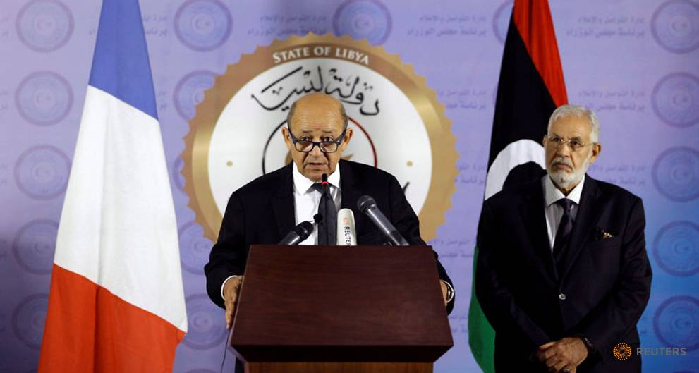 French foreign minister in Libya to push peace deal