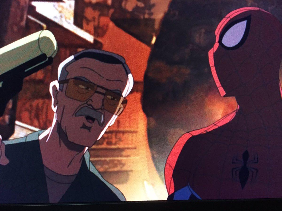 アルティメット・スパイダーマン、ずっと吹替で観てたんだけどまさかのスタンの声がスタン・リーご本人だった!ついでにコールソ