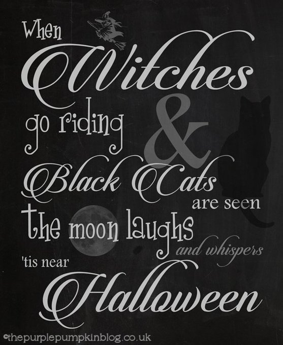 Free printable chalkboard style Halloween posters!  CraftyOctober freebies