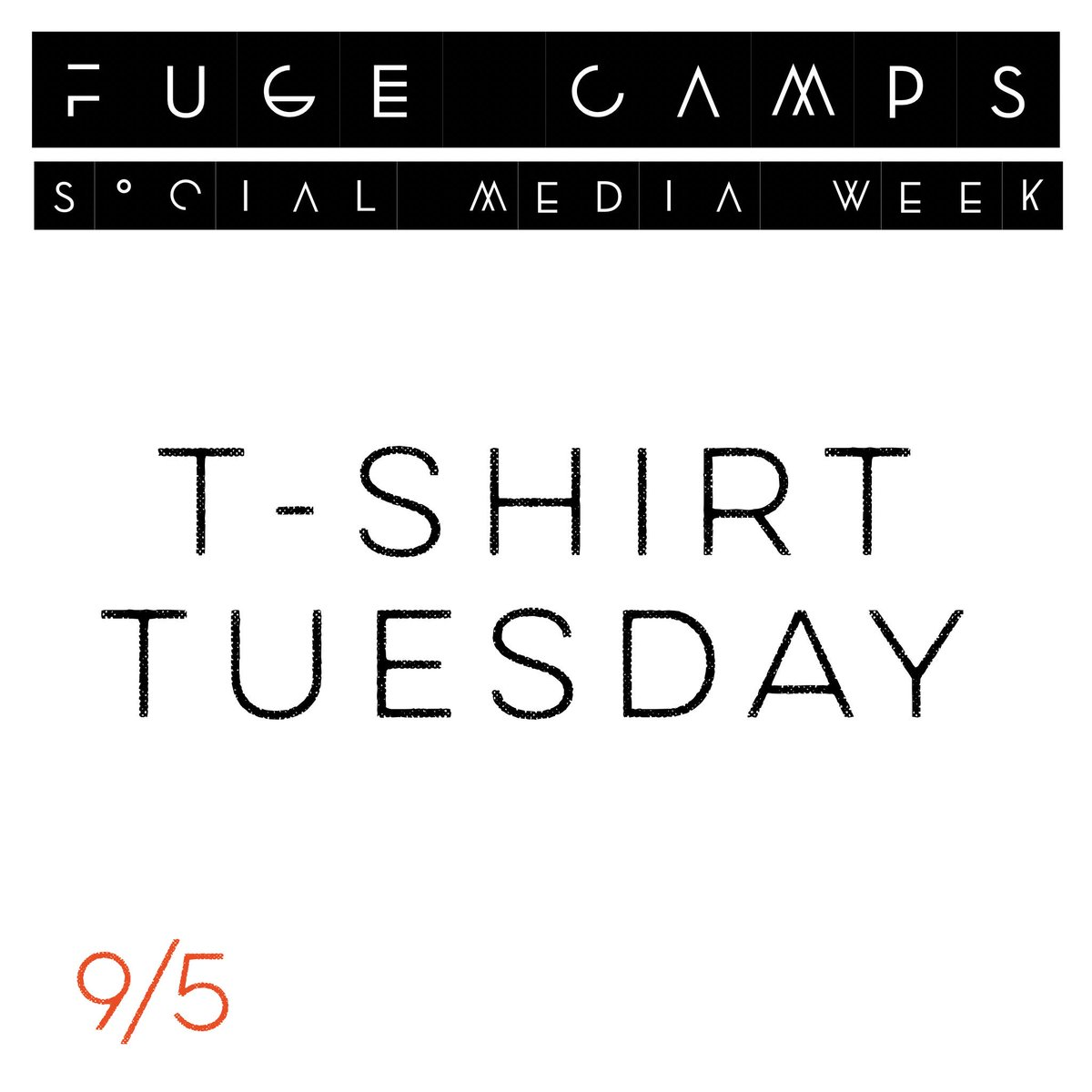 test Twitter Media - TOMORROW: Wear your favorite FUGE t-shirt proudly! Post a pic, tag us, and #fugecamps. Most creative post(s) win prizes! https://t.co/hWacg2VPgN