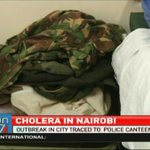 Nairobi cholera outbreak traced to police canteen