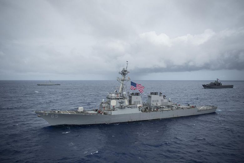 Singapore, US navies conclude exercise in waters off Guam