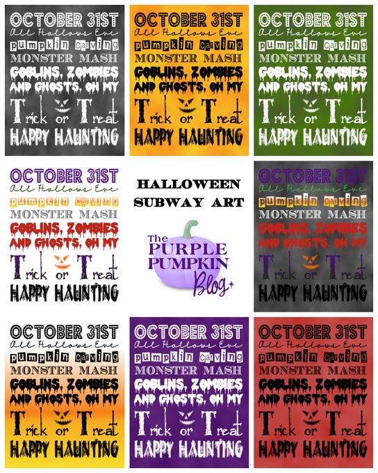 FREE Printable Subway Art Poster for Halloween!  CraftyOctober Freebies