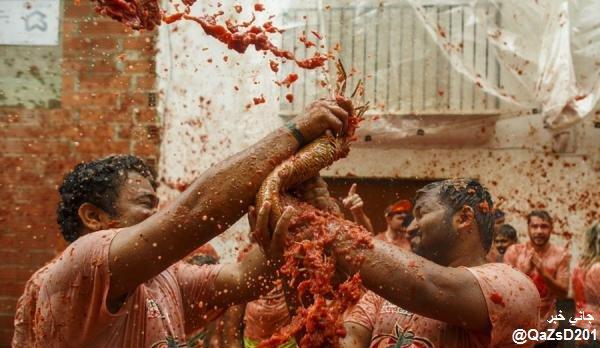 """مهرجان """"حرب الطماطم"""""""